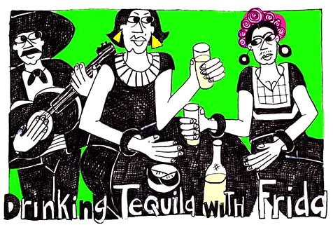 Drinking Tequila with Frida