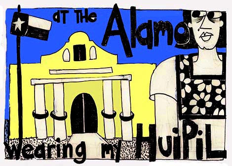 At The Alamo Wearing My Huipil