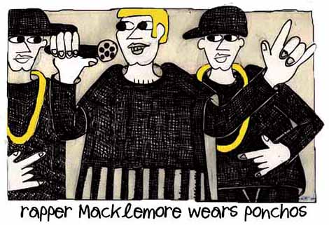 Rapper Macklemore Wears Ponchos