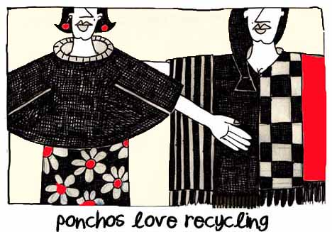 Ponchos Love Recycling