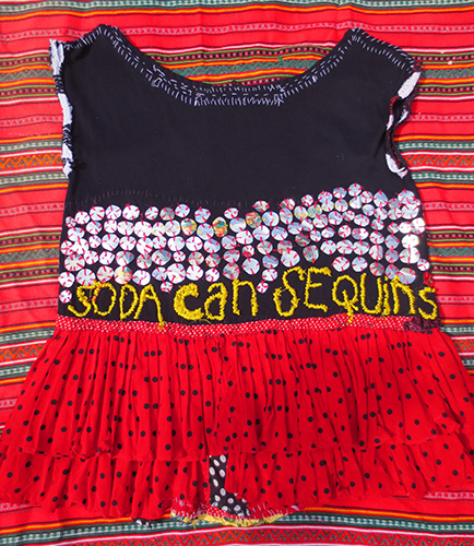 Soda Can Sequins Huipil