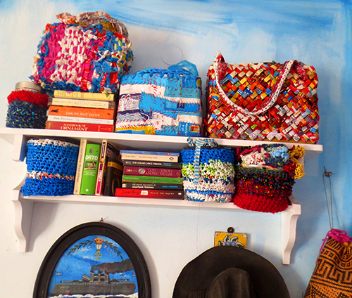 Recycled Purses and Books